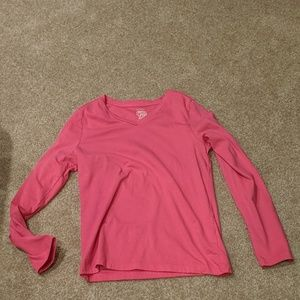 Long sleeve pink shirt size 10/12